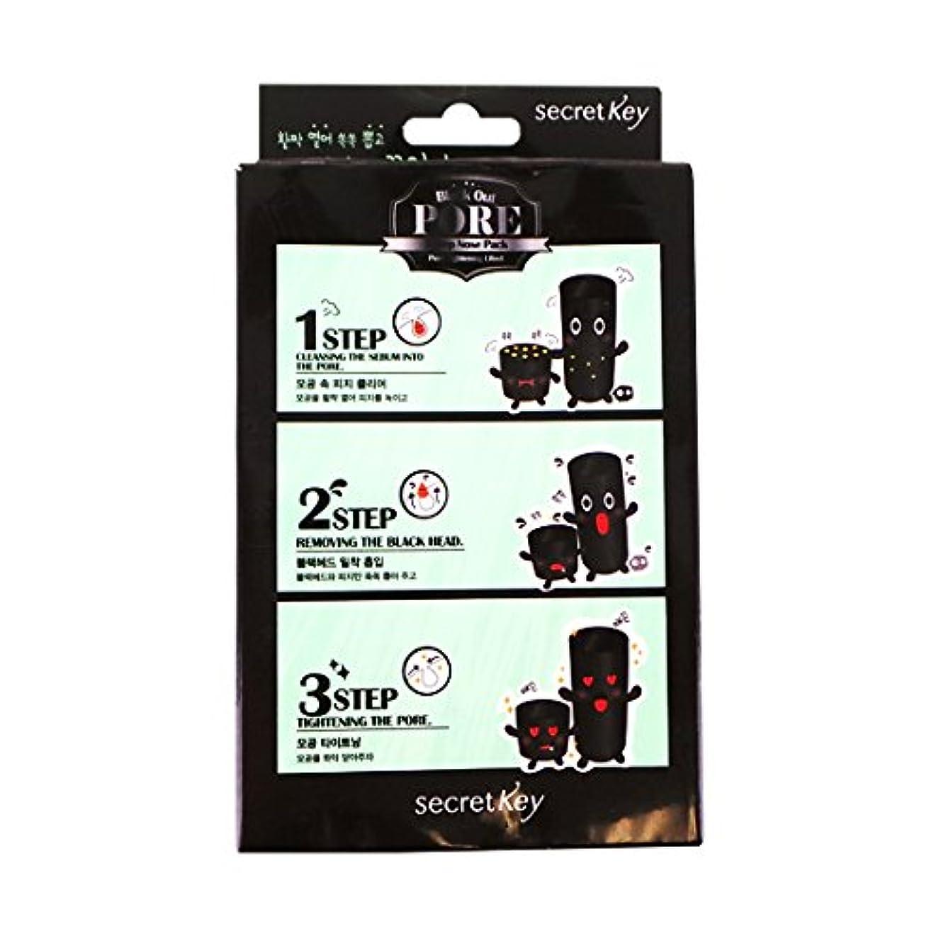 裂け目終わり定期的にSECRET KEY Black Out Pore 3-Step Nose Pack (Pack of 5) (並行輸入品)