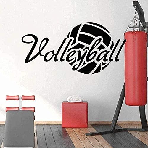 wwhhh adesivi murali sport pallavolo testo ragazzo camera da letto stadio asilo campus arte 84×42...