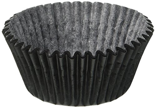 Jubilee Sweet Arts 50 Count Baking Cups, Standard Sized, Black