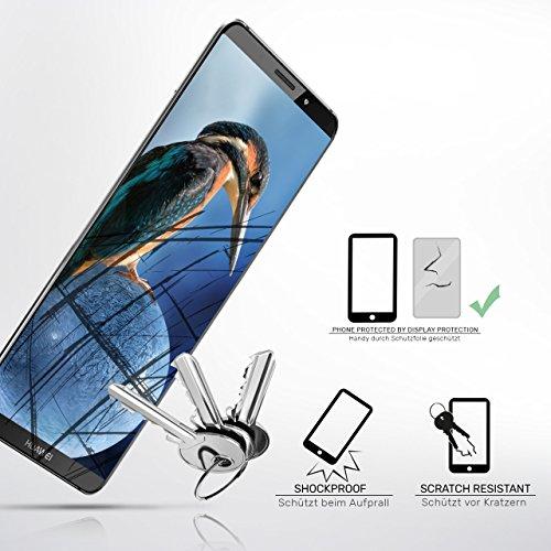 2X Huawei Y7 / Y7 Prime (2017)| Schutzfolie Matt Display Schutz [Anti-Reflex] Screen Protector Fingerprint Handy-Folie Matte Displayschutz-Folie für Huawei Y7 / Y7 Prime (2017) Displayfolie - 4