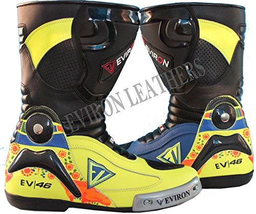 Motorbike New Florocent EV Protective Boots, - Black Blue Florocent, UK 6 / Euro...
