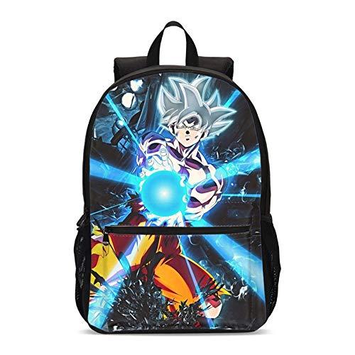 Mochilas Escolares para niños Adolescentes, Conjunto de Mochilas Escolares Dragon Ball Son Goku con Caja de Almuerzo