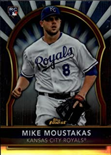 2011 Finest Baseball Rookie Card #98 Mike Moustakas