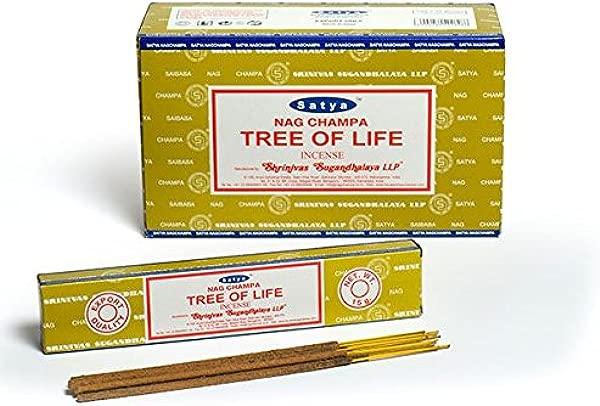 Satya Tree Of Life Incense Sticks 180 Grams Box