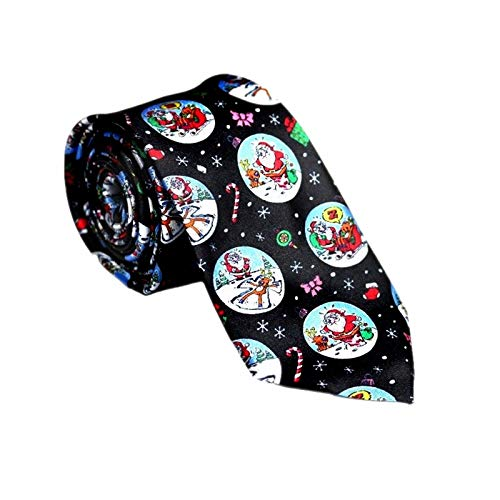 Christmas Novelty Ties - 5 Festive Designs (Black Santa...