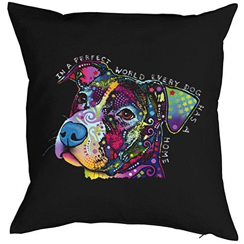 In a Perfect World Every Dog Has a Home Pillow, oreiller, almohada, Cuscino Pop Art Style