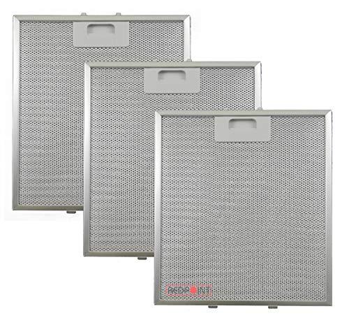 Kit de 3 unidades. Filtros de aluminio para campanas extractoras de 267 x 305 x 9, compatibles con el modelo 'Elica'