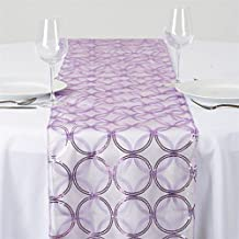 BalsaCircle 14 x 108-Inch Lavender Organza Table Top Runner with Sequin Circles - Wedding Party Reception Linens Decorations