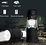Multi-function 5 in 1 LED Camping Lantern with Bluetooth Speaker Support TF/USB,...