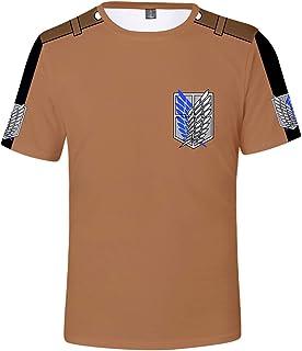 Silver Basic Attack on Titan Camiseta Ropa para Hombres y Niños Divertida Camiseta 3D Camiseta de Verano para Fanáticos de...