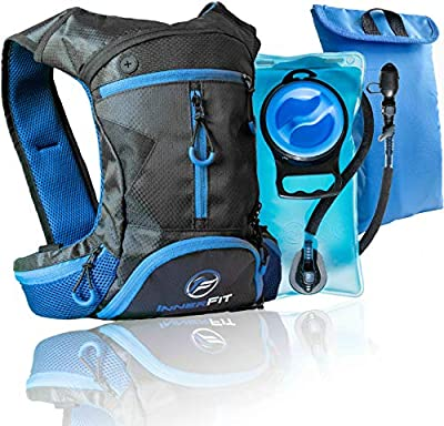 InnerFit Insulated Hydration Backpack and Water Bladder, Durable Camel Backpack Hydration Pack - Running, Hiking, Biking and Outdoor Activities - Lightweight Water Backpack - Blue
