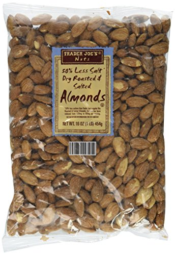 Trader Joe#039s 50% Less Salt Dry Roasted and Salted Almonds 1 lb