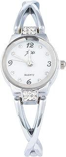 Godagoda Silver Color Student Bracelet Bangle Quartz Wristwatch Watch