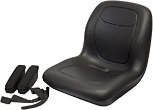 The ROP Shop Black HIGH Back SEAT w/ARM Rests for Allis Chalmers Ferris Husqvarna Jacobson