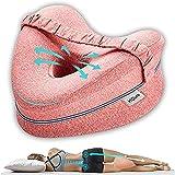 Almohada Piernas Dormir De Lado - Sueño Confortable Almohadas Ortopédicas para Las Rodillas Comfy Pillow Espuma Memoria Cojin Ergonomico para Piernas Almohada Correctora Posicion Ciatica Espalda