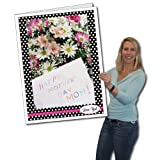 VictoryStore Jumbo Greeting Cards: Giant Mother's Day Card, Polka Dots, 2 feet x 3 feet Card with Envelope
