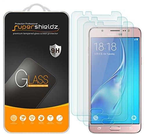 Supershieldz - Protector de visualización de vidrio templado para Samsung Galaxy J5 (2016) (3 unidades)
