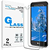 [2-Pack] KATIN For LG K7 Tempered Glass Screen Protector No-Bubble, 9H Hardness, Easy to Install