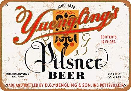 Phirtyrius 1934 Yuengling's Pilsner Beer Vintage Look Metall Blechschild – 25,4 x 35,6 cm