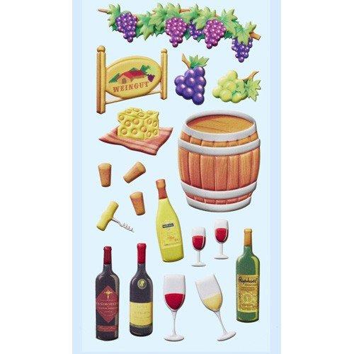 Klebe Stofty Sticker Wein Fest