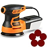 VonHaus 350W Random Orbit Sander with Soft Grip Handle, Ergonomic Design & Sanding Pads Included 125mm 5""