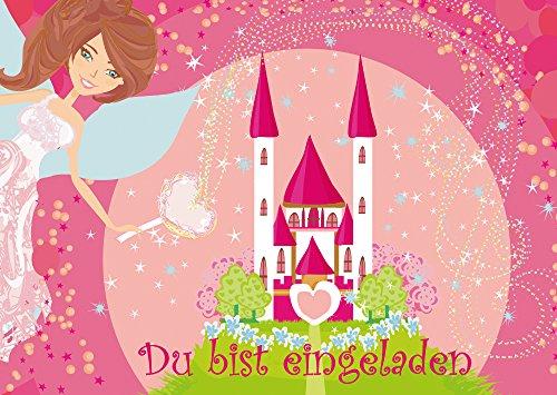 12 Einladungskarten Prinzessin/Feen-Einladungen zum Mädchen Kindergeburtstag zur Prinzessinnen-Party von EDITION COLIBRI