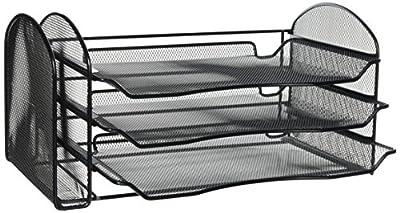 Safco Products Onyx Mesh Tray Desktop Organizer