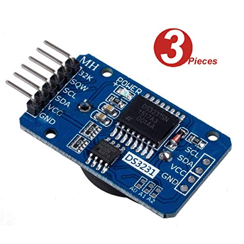 DollaTek 3Pcs Tiny DS3231 AT24C32 I2C Modul Precision Real Time Clock Module für Arduino