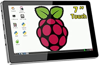 Raspberry Pi 7 Inch Touchscreen Display,USB Powered,Small-Size HDMI Monitor,Building in Dual Speakers,1024X600 Resolution IPS LCD with Prop Stand