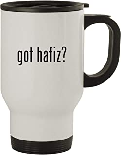 got hafiz? - Stainless Steel 14oz Travel Mug, White