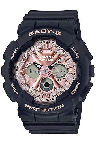 CASIO Damen Analog – Digital Quarz Uhr mit Resin Armband BA-130-1A4ER