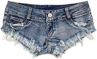 Jieming レース夏の女性のナイトクラブデニムファッションデザインジーンズショーツスーパーショーツサマーホールナイトクラブ (Size : L)