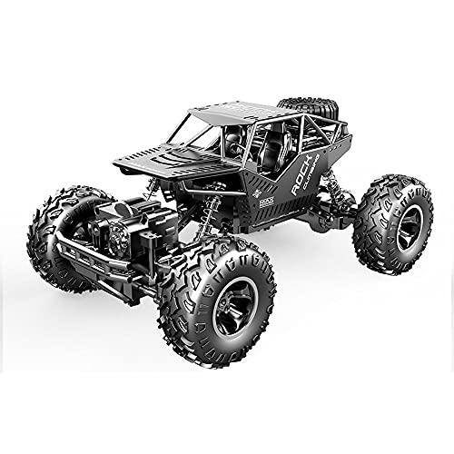 Zpzzy 1/16 Scale Bigfoot Alloy Climbing Off-road Vehicle 2.4G Camión Rc con tracción en las cuatro ruedas a tiempo completo con suspensión Vehículo de control remoto con amortiguador equipado con moto
