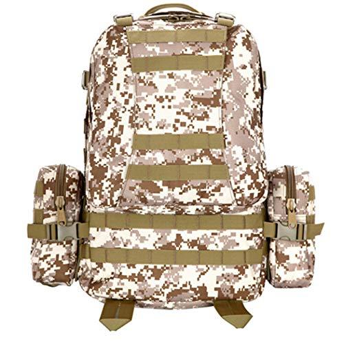 50L all'aperto sport zaino da uomo donne tattiche militari zaino zaino combinazione multi-funzione sacchetti di viaggio rampicanti Desert Digital 50-70L