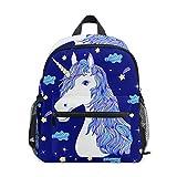 Estrella De Unicornio Azul Mochila para Preescolar Niñas Niños Toddler Kids Estudiante Mochilas para Infantiles 1-6 Años