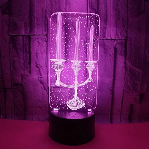 WULDOP Luz De Noche 3D Velas candelabros luz de las Planetas Lámpara Nocturna Luz De Noche Luz Quitamiedos Infantil Led Para Habitación Infantil Dormitorio Baño Cuna Pasillo