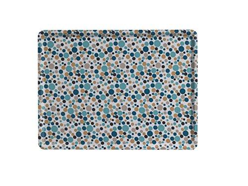 PLATEX 102820302S Plateau Slim 28x20cm Melo Bleu, Tissu Coton, 28 x 20 x 2 cm