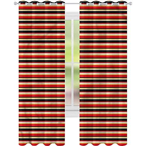 jinguizi Cortinas opacas abstractas coloridas y vibrantes telón de fondo W52 x L72 para oscurecer la habitación, decoración del hogar para habitación de los niños