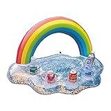 Portavasos Inflable - Posavasos Flotante Rainbow Cloud Pool Hinchables Para Piscina...
