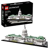 Bauen Sie ein detailgetreues Modell des Kapitols von Washington Enthält eine Broschüre zum Sammeln mit Informationen über Design, Architektur und Geschichte des Gebäudes Die Spielzeugmodelle von LEGO Architecture sind kompatibel mit allen LEGO Bauset...