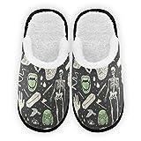 Zapatillas para hombre y mujer, decoración de Halloween, forro de felpa,...