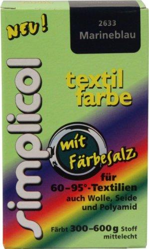 Simplicol Textilfarbe mit Färbesalz Marineblau,150g