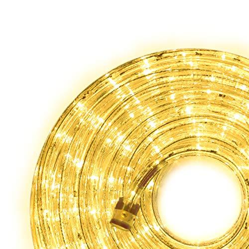 Nipach GmbH 10m 240 LED Lichterschlauch Lichtschlauch gelb – Innen- und Außenbereich – energiesparende Leucht-Dekoration für Garten Fest Weihnachten Hochzeit Gesamtlänge ca. 11,50 m