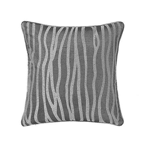 LOLAhome - Cuscino con stampa a forma di animale, colore: grigio, in tessuto jacquard, 45 x 45 cm