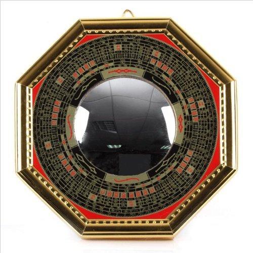 World Surprise Bagua Luo Board Convex Mirror Back :...