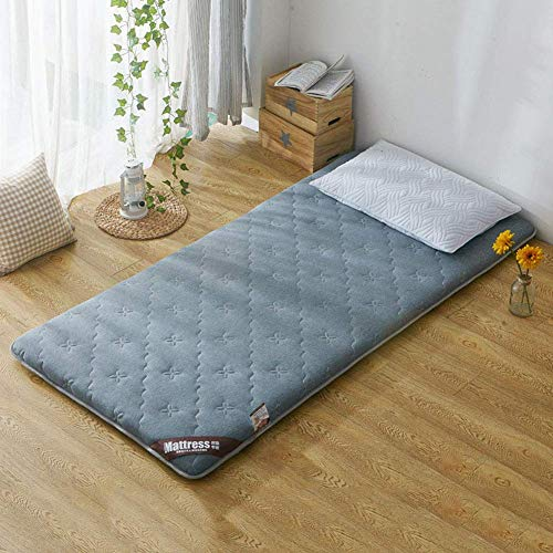 BH Tatami mattress, memory foam mattress, soft and thick padded breathable quilted folding mattress cover D 90x190 cm (35x75 inches)