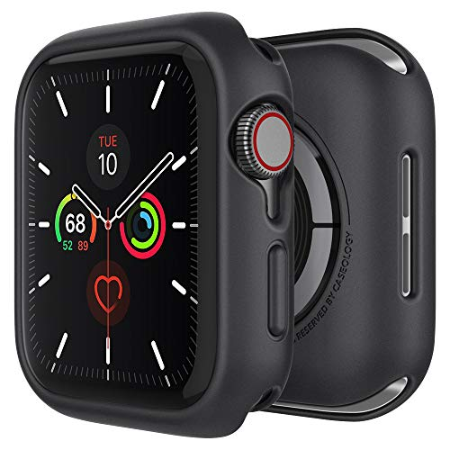 Caseology Nero, Cover Apple Watch 44mm, Compatibile con Apple Watch SE, Series 6 (2020), Series 5 (2019) e Series 4 (2018) - Nero