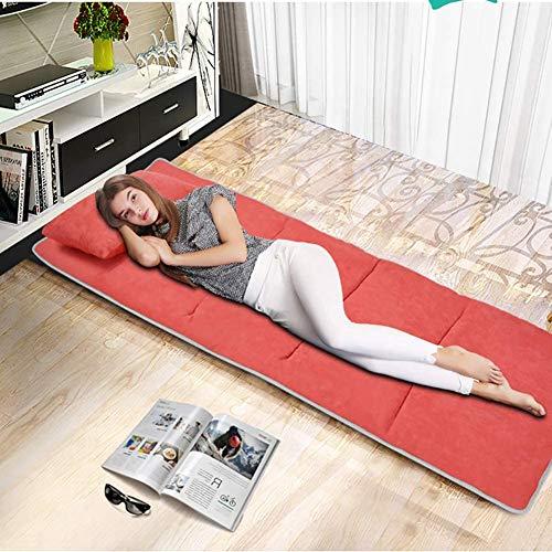 Hewei opvouwbare matras van suède, vulling van geheugenschuim, matras voor bed, tatami-mat met afneembare overtrek, voor kantoor, reis, blauw, 190 x 68 cm (78 x 27 inch)