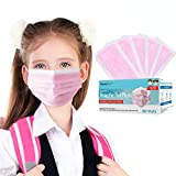 Kids Disposable Face Mask Individually Wrapped, 50 PCS TomrickCare Age 4-12 Melt-blown Fab...