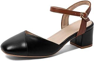 Dames Sandalen met Hoge Hak Chunky Block Heel enkelband Sandalen Pumps Schoenen Party Avondschoenen